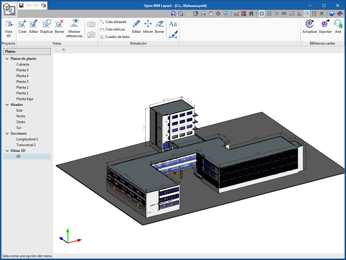 Open BIM Layout. Description