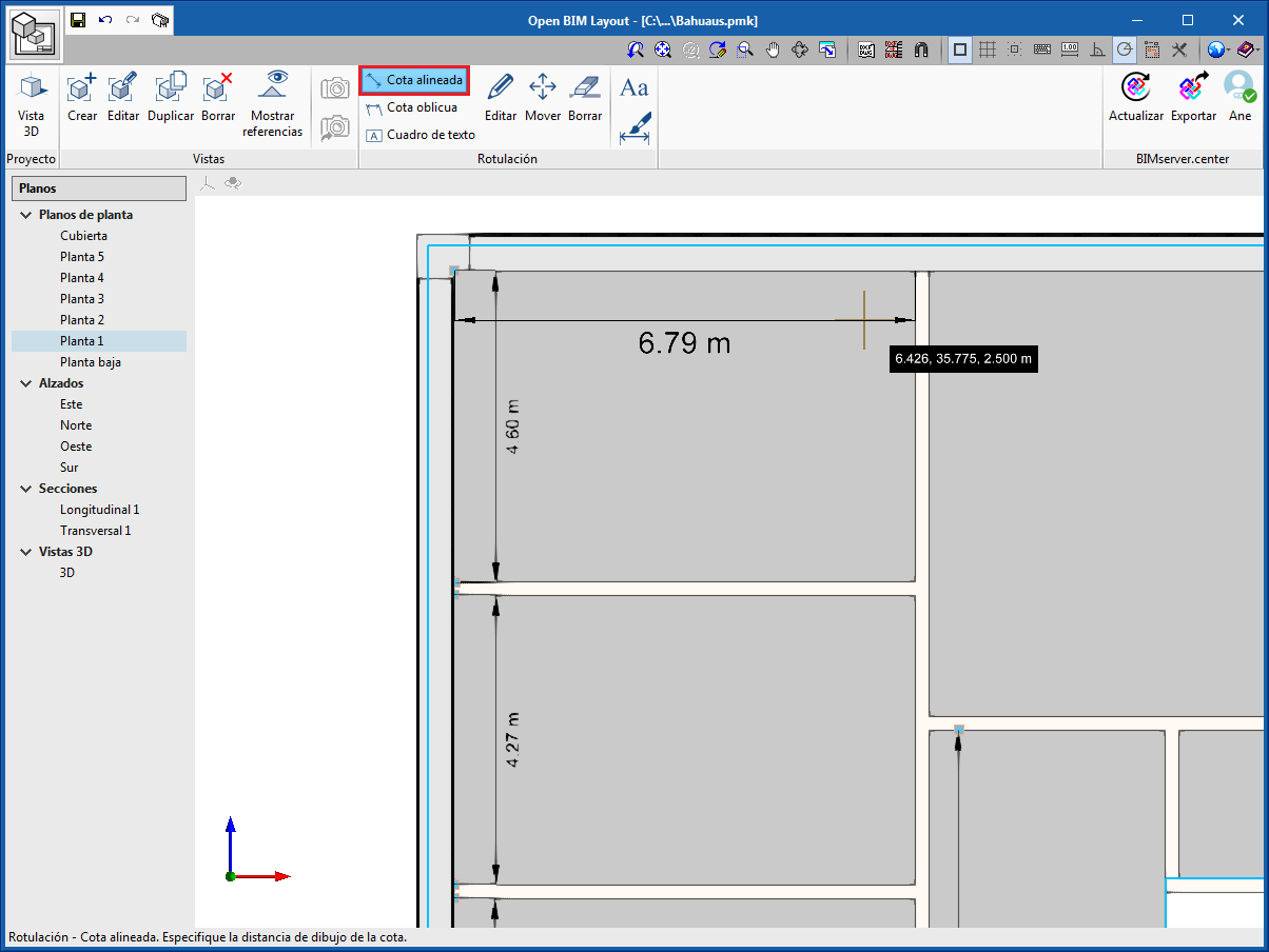 Open BIM Layout. Operation
